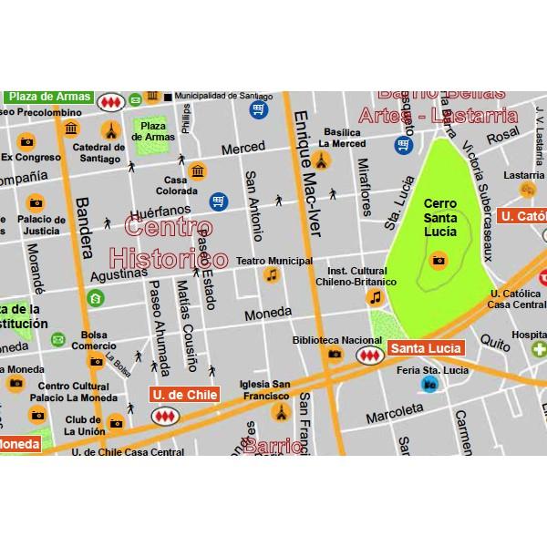 Plano gu a santiago de chile for Calles de santiago de chile